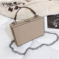 Pu Leather Women Box Bag Designer Handbag Stud Black Fashion 2019 Red Tote Hand Bags Casual Crossbody Shoulder Day Clutch