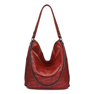 REALER shoulder bag women genuine leather handbag high quality Hobo bag ladies tote bag designer crossbody female chain