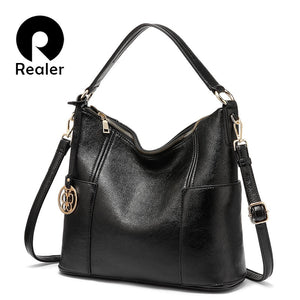 REALER shoulder bag women luxury handbags designer large tote bags ladies hobo bags crossbody female brand  artificial leather