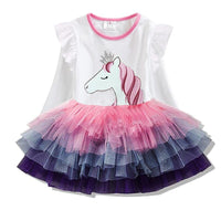 Clothing Rainbow Kids Dresses Butterfly Dress for Girls Baby Girl Clothes 2-8 Year
