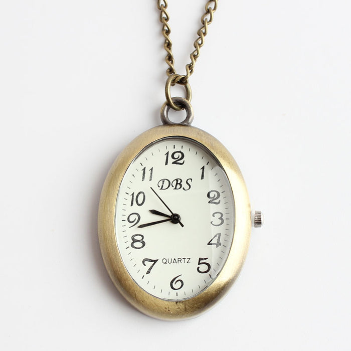 ROYAL GOODS New Retro Palace Style Luxury Women Necklace Clock Fashion Charm Small Chain Watch Quartz Pocket Watch Pendant