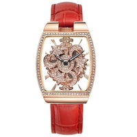 New Hollow Quartz Watches Woman Full Diamond 360 Degree Rotating Watch Barrel