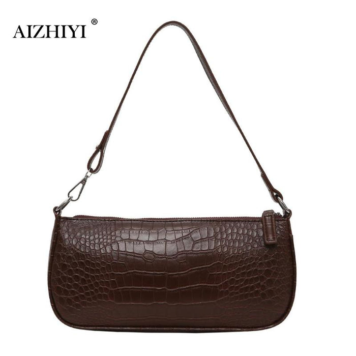 Retro Alligator Pattern Women Messenger Flap Handbags 2019 New PU Leather Street Casual Solid Zipper Shoulder Bags Bolsa Mujer