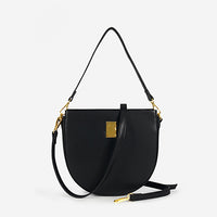 Retro Saddle bag Women's Shoulder Bags Pu Leather Solid Color Women Handbags Simple High Capacity Ladie Clutch Crossbody Bags