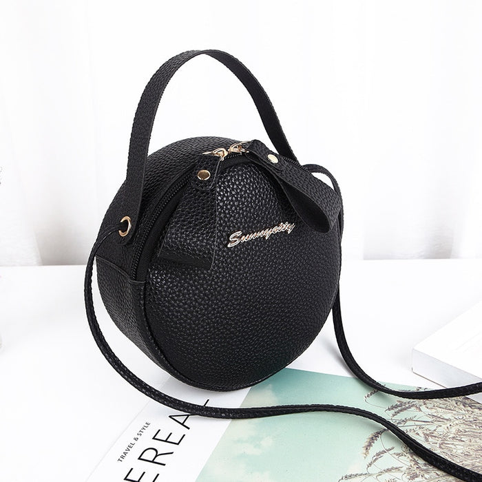 Round Design Fashion Women Shoulder Bag Ladies Purse Female Round Bolsa Handbag Leather Women Crossbody Messenger Bags