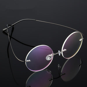 Round Eyewear Titanium Glasses Frame Men Computer Eyeglasses Optical Prescription Reading Clear Lens Women Spectacle Frame