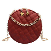 Round Messenger Chain Bags for Women 2019 Ladies Stylish PU Leather Should Women Leather Shoulder Chain Bags Female Shopping Bag