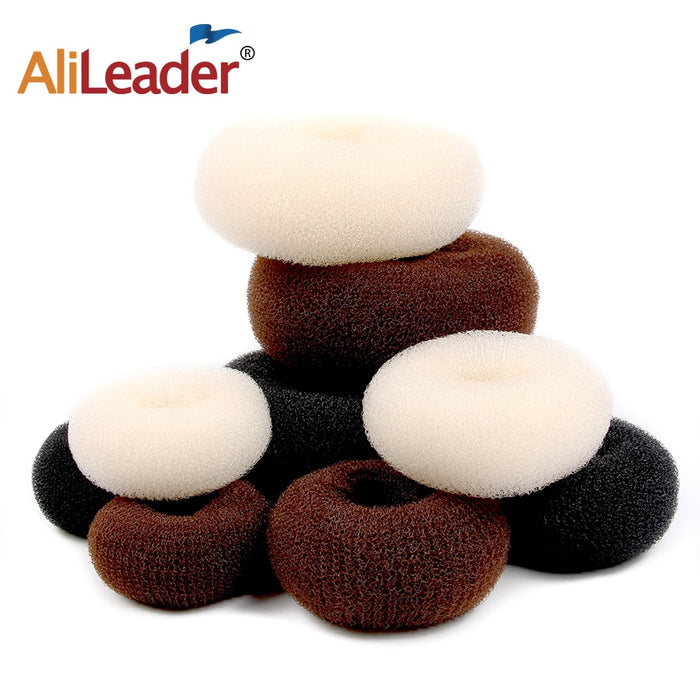 S/M/L Popular Women Lady Magic Shaper Donut Bun Maker Hair Ring Accessories Styling Tool Hair Sponge For Ladies 1Pcs/3Pcs/Lot