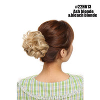 S-noilite 40g Chignon Donut Synthetic Hair Bun Hair Extensions Hair Scrunchie Elastic Hair Rope Rubber Band Women Hairpieces