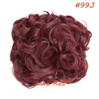 S-noilite LARGE Comb Clip In Curly Synthetic Hair Pieces Chignon Updo Cover Hairpiece Extension Hair Bun