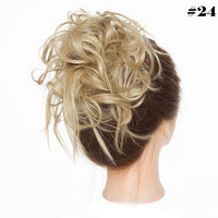 S-noilite Messy Scrunchie chignon hair bun Straight elastic band updo hairpiece synthetic hair chignon hair extension for women