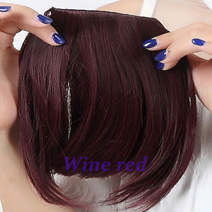 S-noilite US Shipping Clip In On Bang Bangs Fringe Synthetic Hairpiece Fringe Hair Extensions Black Brown