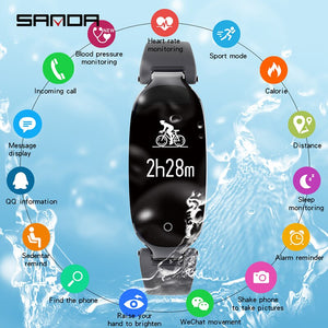 SANDA S3 Smart Watch IP67 Waterproof Heart Rate Monitor Blood Pressure Fitness Bluetooth Women Smartwatch For Android IOS