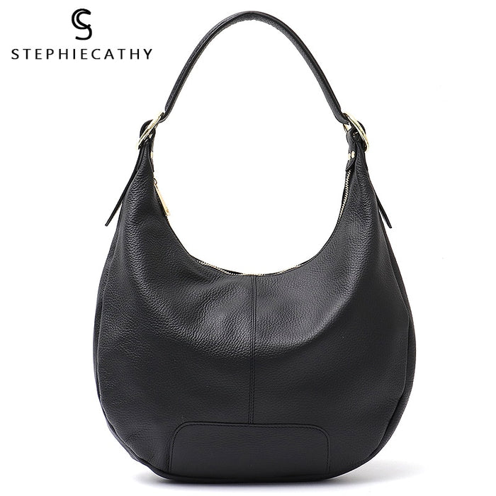 SC Luxury Brand Women Hobo Bags Genuine Leather High Quality Shoulde