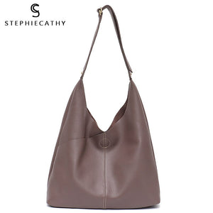 SC Real Leather Hobo bag for Women Brand Female Shoulder bags Genuine leather Tote Ladies Luxury Purse Large Handbags Crossbody
