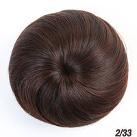 SHANGKE Girls Brown Blonde Bun Hair Chignon Synthetic Donut Roller Hairpieces High Temperature Fiber for Women