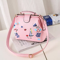 SJ Women Shoulder Bags Female Messenger Embroidered Bag Handbags Totes Braccialini Brand Style Handicraft Cartoon Doctor Pack