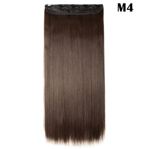SNOILITE Fall to waist 46-76 CM Longest Clip in One Piece Hair Extensions Real Natural Thick Synthetic hair for women