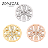 SOMSOAR Jewelry 33MM Early Dew Coin Disc Fit For 35MM Coin Holder Frame Pendant Necklace 5pcs/lot