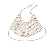 Sexy Shiny Crystal Necklace Body Chain Luxury Crystal Chest Chain Body Jewelry for Sexy Charm Women Beach Bikini Jewelry