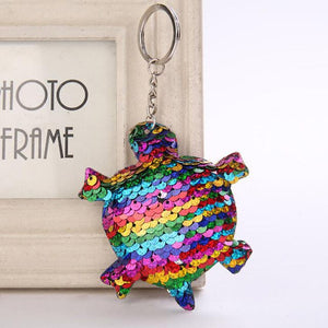 Shiny Keychain Sequins Cute Dog Key Chain Keychains for Women Cars Bag Accessories Pendant Key Ring sleutelhanger