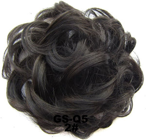 Similler Ladies Elastic Curly Synthetic Hairpieces Scrunchie Wrap For Hair Bun Chignon Accessories 30g 44 Colors For Wedding