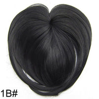 Similler White Black Brown Gold Fake Fringe Clip In Blunt Bangs Synthetic Hair Extensions With High Temperature Fiber