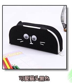 Simple stationery box men and women small fresh pencil bag cartoon cat canvas pen box