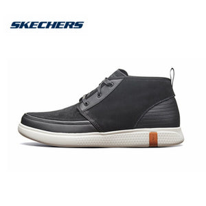 Skechers Causal Shoes Men Glide 2.0 Ultra Flats Men Autumn Winter Shoes Lace Up Top Shoes Botas Breathable Masculinas 55481-BKW