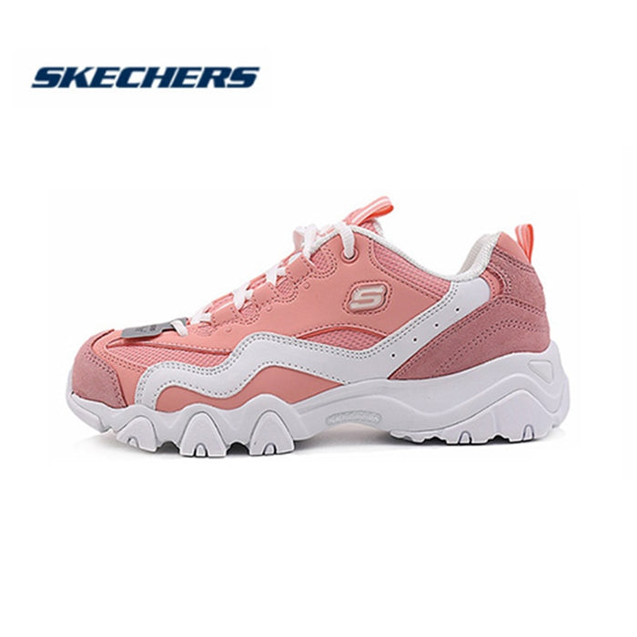 Skechers  D'lites Casual Shoes for Women Platform Autumn Shoes Sneakers Women Fashion Brand Retro Chunky Shoes 88888000-PNK