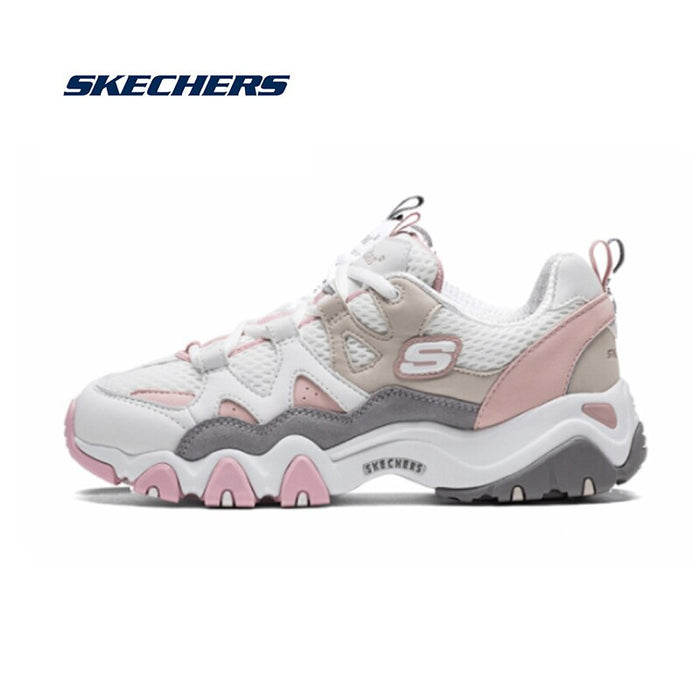 Skechers  D'lites Shoes Woman Casual Shoes Chunky Comfortable Platform Shoes For Women Lace Up Thick Heel Shoes 99999693-WGY