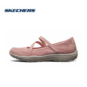 Skechers Flats Shoes Woman Brand Luxury Breathble Vulcanized Shoes Comfortable Mary Jane Shoes Women Soft Shallow Shoe 23297-ROS