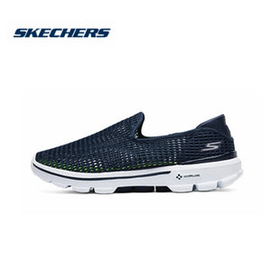 Skechers Loafers Men Casual Breathable Flats Go Walk Air Mesh Slip On Shoes Men High Quality Flats Men Shoes 6666002-NVW