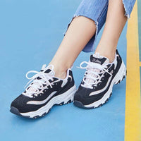 Skechers Shoes for Woman D'lites Fashion Casual Shoes Woman Comfortable Spring Summer Western Style Ladies  Footwear 13144-NVW