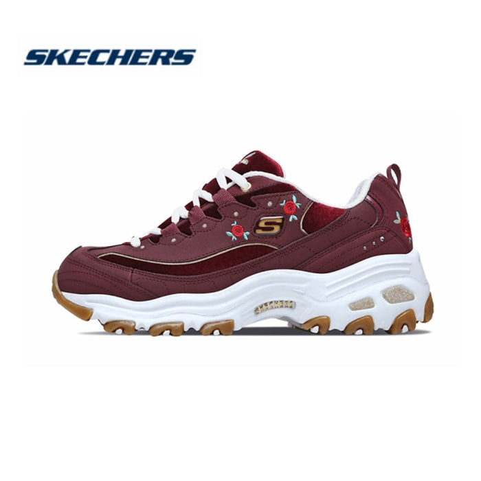 Skechers Women Shoes D'LITES Comfortable Breathable Casual shoes Woman Thick Sole Shoes 13084-BURG