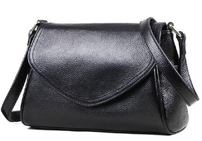 Small Crossbody Bag for Women Genuine Black Leather Shoulder Bag Designer Handbag Fashion Women Cowhide Lady Hand Shoulder Bag