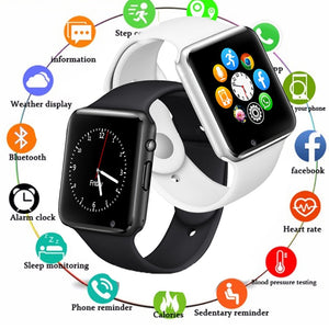 Smart Watch Men For Android Phone Apple Watch Support 2G Sim TF Card 0.3MP