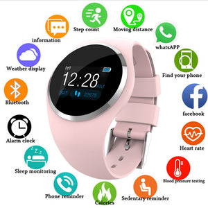 Smart Watch Women Men Heart Rate Blood Monitor Bluetooth Pedometer Female