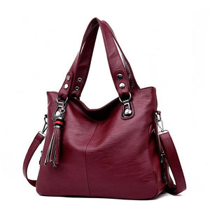 Soft Leather Bags Women Red Handbag Luxury Handbags Women Bags Designer Black Women's Hobos Bag Sales Big Ladies Leather Handbag