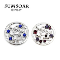 Somsoar Jewelry 33MM The Sky's the Limit Disc Coin Fit 35MM Coin Holder Pendant Necklace 10pcs/lot