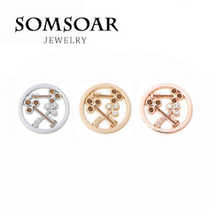 Somsoar Jewelry Deluxe 33MM Key Coin Fit For 35MM Coin Holder Frame Pendant Necklace 10pcs/lot