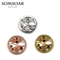 Somsoar Jewelry Infinity Love Crystal Deluxe Coin Fit 35MM My Coin Holder Frame Necklace Pendant 10pcs/lot