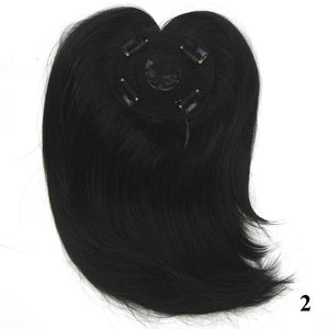 Soowee Long Brown Synthetic Hair Toupees Hairpieces Straight Hair Bang Fringe Top Closures for Men and Women