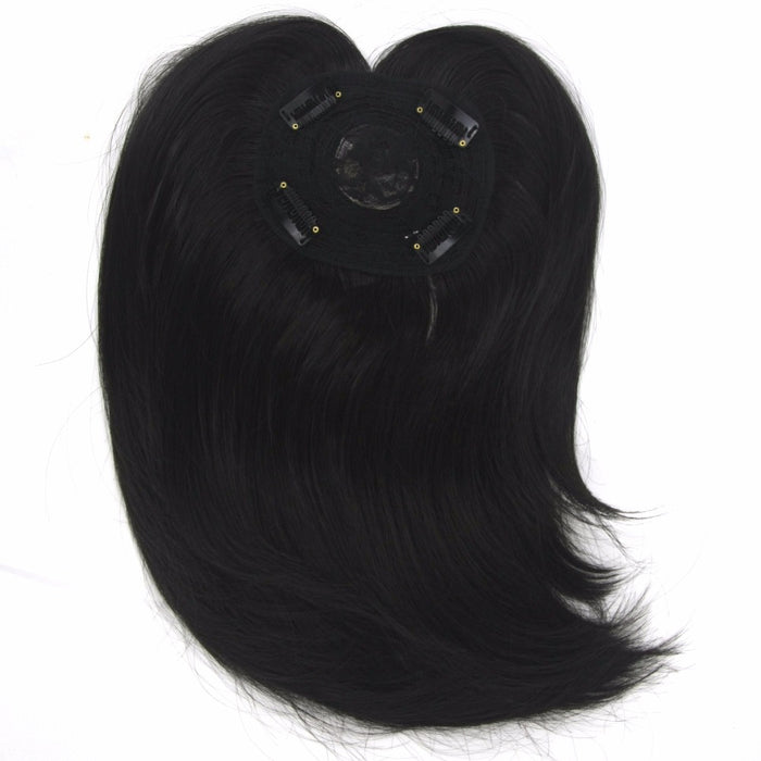 Soowee Long High Temperature Fiber Synthetic Hair Toupees Hairpieces Straight Hair Fringe Top Closures for Men and Women