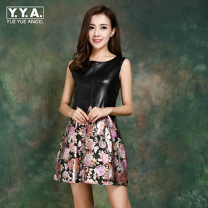 Dresses Women Sheepskin Genuine Leather Dress Fashion Princess