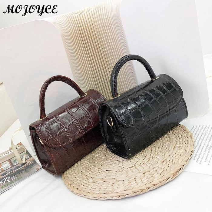 Stone Pattern Crossbody Bags For Women 2019 New Fashion Small Solid Colors Shoulder Bag Female Handbags and Purses With Handle