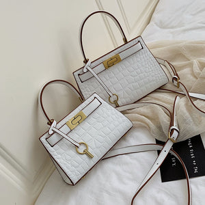Stone Serpentine Alligator small lock handbag tote ladies famous luxury brand women bag shoulder 2019 leather crossbody designer