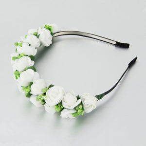 Stylish Women Girls Floral Headband Bohemia Hair Band Flower Garland Wedding Prom Head Wrap Hair Accessories Gift