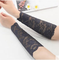 Summer Women Lace Arm Sleeves Sunscreen Floral Tattoo Arm