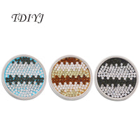 TDIYJ Mixed 33MM Ritmo Champagne Smokey and Blue Disc Coin with Crystals for Stainless Steel My Coin Holder Necklace 6Pcs/lot
